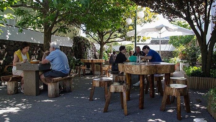 Restaurant's courtyard